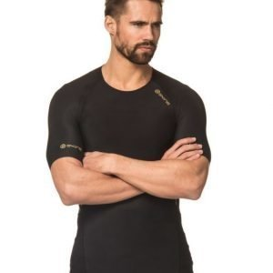 Skins A400 Mens Gold Top Short Sleeve Black/Gold