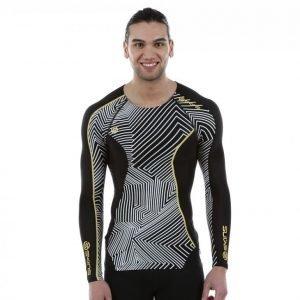 Skins Dnamic Top Long Sleeve Kompressiopaita Musta / Valkoinen