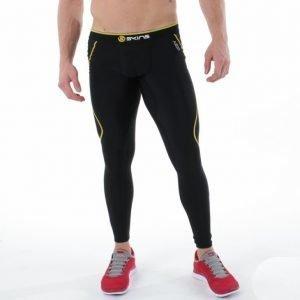 Skins Mens Thermal Long Tights Kompressiotrikoot Musta / Keltainen