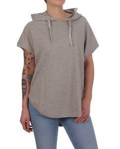 Sleeveless Ladies Hoody Grey