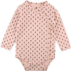 Small rags Body Daze LS Wrapover Smok Green Pink