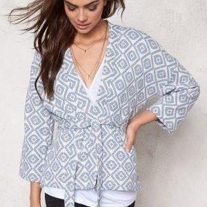 Soaked In Luxury Alicia Kimono Creme/Print