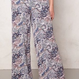 Soaked In Luxury Dora Pant Blue Paisley Print