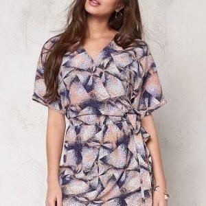 Soaked In Luxury Firo Wrap Dress Confetti Print