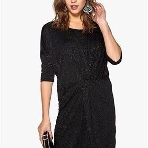 Soaked In Luxury Hope Dress Black w. silver