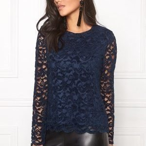 Soaked In Luxury Matilda Blouse Dress Blue