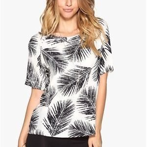 Soaked In Luxury Palm top Black/Offwhite