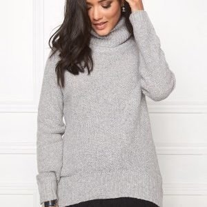 Soaked In Luxury Pearl Pullover Light Grey Melange