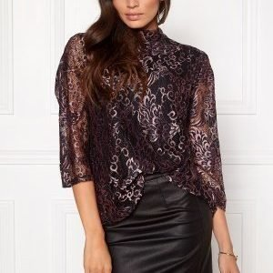 Soaked In Luxury Rachelle Top 3/4 Peacock Lace