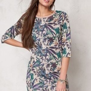 Soaked In Luxury Tassa Dress Tropical Print