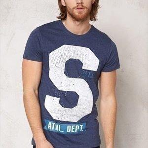 Solid Anselm T-shirt 8549 Med Blue Mel.