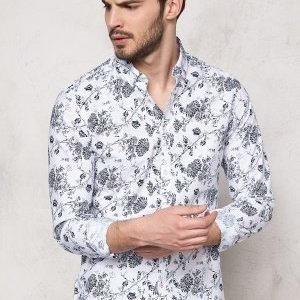 Solid Barker Shirt 0001 White