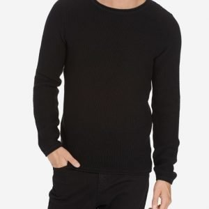 Solid Darah Knit Pusero Black