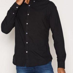 Solid Edem Shirt Kauluspaita Black