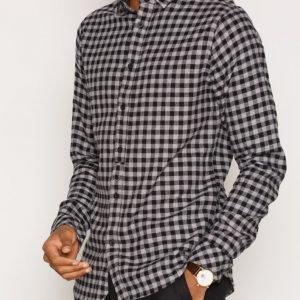 Solid Edgars Shirt Kauluspaita Black
