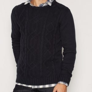 Solid Edvin Knit Pusero Insignia Blue