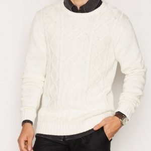 Solid Edvin Knit Pusero White