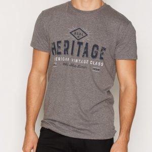 Solid Elikas T-shirt T-paita Grey Melange