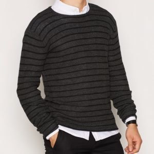 Solid Elvin Knit Pusero Black