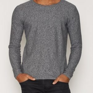 Solid Erno Knit Pusero Navy