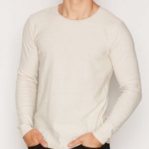 Solid Erno Knit Pusero Offwhite