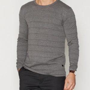 Solid Faro Knit Pusero Grey Melange