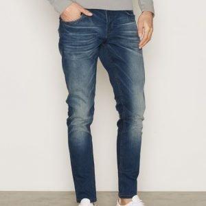Solid Frank Stretch Jeans Farkut Medium Blue