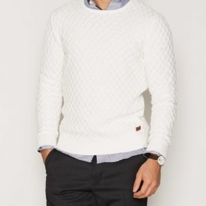 Solid Fransisco Knit Pusero Offwhite