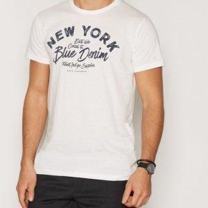 Solid Frej T-shirt T-paita Offwhite