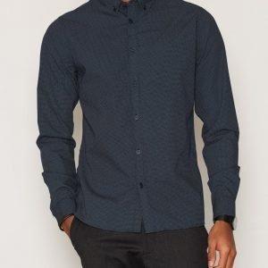 Solid Fu Shirt Kauluspaita Insignia Blue