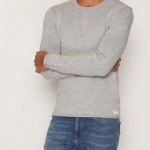 Solid Gabbi Knit Pusero Light Grey Melange