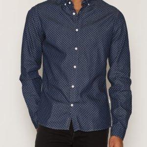 Solid Gabryel Shirt Kauluspaita Insignia Blue