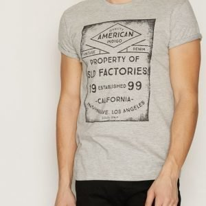 Solid Giacopo T-shirt T-paita Light Grey Melange
