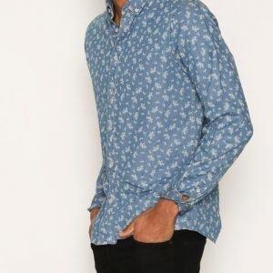 Solid Haakin Shirt Kauluspaita Sky Blue