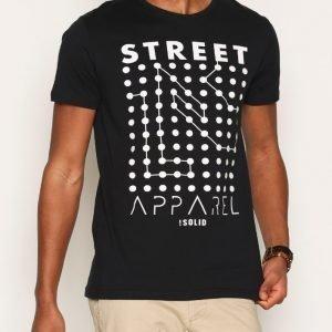 Solid Harpur T-shirt T-paita Black