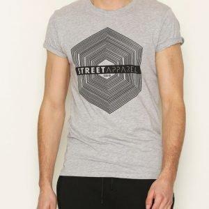 Solid Harris T-shirt T-paita Light Grey Melange
