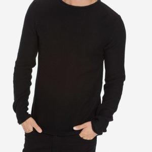 Solid Knit Jarah Pusero Black