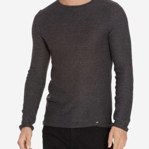 Solid Knit Jarah Pusero Dark Grey Melange