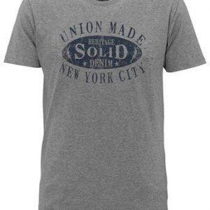 Solid T-paita Mel. harmaa