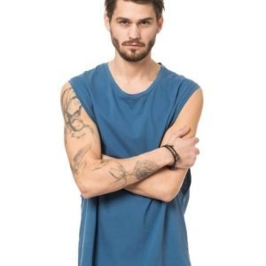 Somewear Sleeveless Tee Sideboob Blue