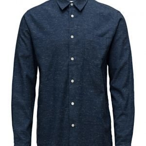 Soulland Aw16 Huttnutt Shirt W. Pocket & French Placket