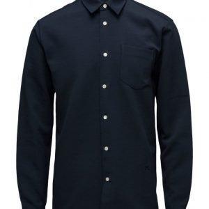 Soulland Aw16 Logan Shirt W. Pocket & Flatlocks