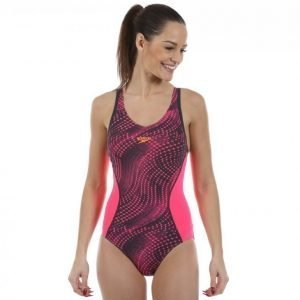 Speedo Speedofit Splice All Over Muscleback Uimapuku Roosa / Musta