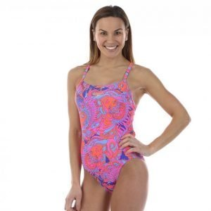 Speedo Sunset Samba Digital Rippleback Uimapuku Sininen / Punainen