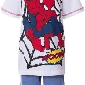 Spiderman Disney Spiderman T-paita ja shortsit White/Red