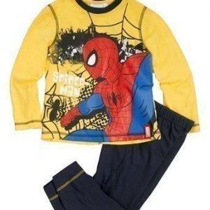 Spiderman Pyjama Keltainen Tummansininen