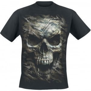 Spiral Camo Skull T-paita