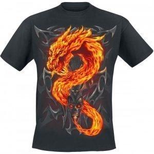 Spiral Fire Dragon T-paita