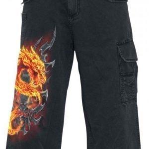 Spiral Fire Dragon Vintage Shortsit