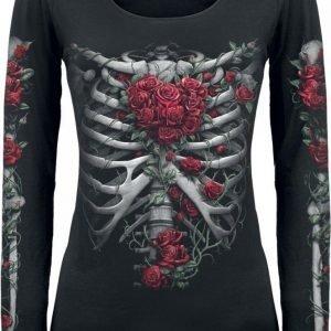 Spiral Rose Bones Longsleeve Naisten Pitkähihainen Paita